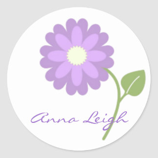 Lavender Flower Personalized Stickers