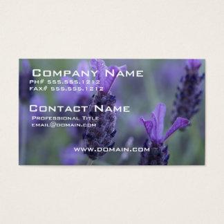 Lavender Flower Photo Business Card