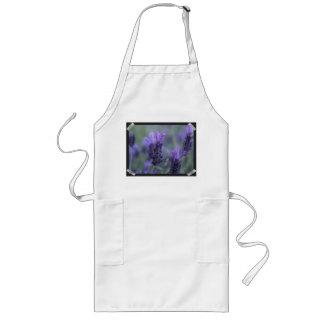 Lavender Flower Photo Long Apron