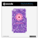 Lavender Flower Power ipod Touch 4th Gen iPod Touch 4G Decal