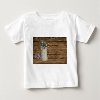 lavender flower rustic barn wood french country baby T-Shirt