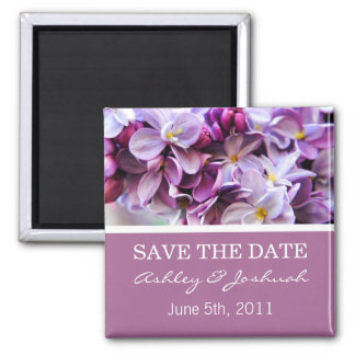 Lavender Flower  Save The Date Magnets