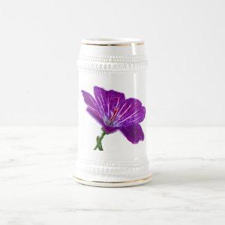 Lavender Flower Stein 18 Oz Beer Stein