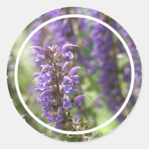 Lavender Flower Stickers