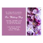 Lavender Flower  Wedding Invites