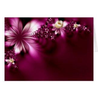 Lavender Flower Wedding Mandala Collection Greeting Card