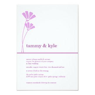 Lavender Flowers, 5x7 Invitations