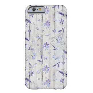 Lavender Flowers and Stems on White Wood Barely There iPhone 6 Case