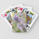 Lavender Flowers. Bicycle Poker Deck