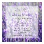 Lavender Flowers Bridal Shower Custom Invitation