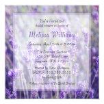 Lavender Flowers Bridal Shower 5.25x5.25 Square Paper Invitation Card