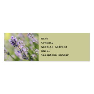 Lavender Flowers. Double-Sided Mini Business Cards (Pack Of 20)