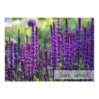 Lavender Flowers Custom Invitation