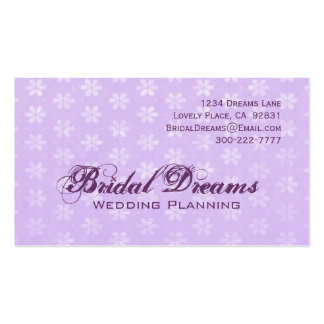 Lavender Flowers Customizable Business Card