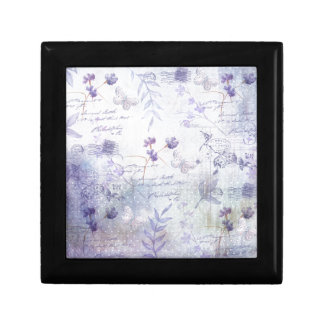 Lavender Flowers Decoupage Jewelry Box