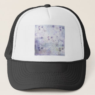Lavender Flowers Decoupage Trucker Hat