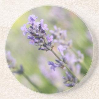 Lavender Flowers. Drink Coaster