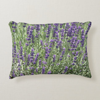 Lavender Flowers Floral Accent Pillow