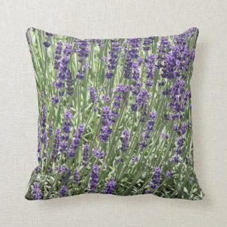 Lavender Flowers Floral Throw Pillow