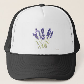 Lavender flowers french lavender trucker hat