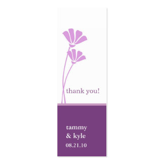 Lavender Flowers Gift Tags Double-Sided Mini Business Cards (Pack Of 20)