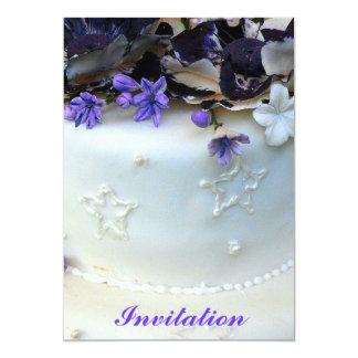 Lavender flowers invitation
