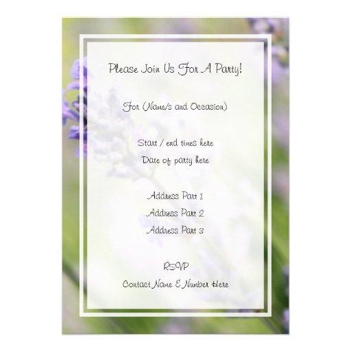 Lavender Flowers. Invitations