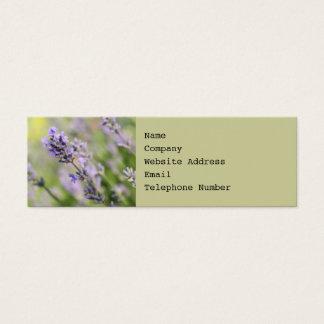 Lavender Flowers. Mini Business Card