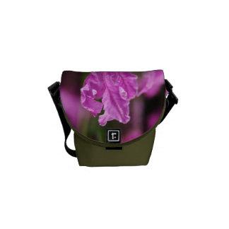 Lavender Flowers Mini Messenger Bag Outside Print