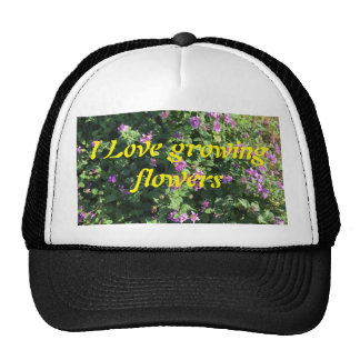 Lavender Flowers on a photographic print. Trucker Hat