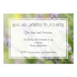 Lavender Flowers. Personalized Invitations