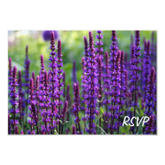 Lavender Flowers RSVP Invitation