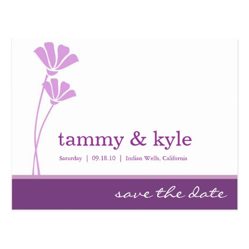 Lavender Flowers Save the Date Postcard