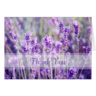 Lavender Flowers Thank You Stationery Note Card