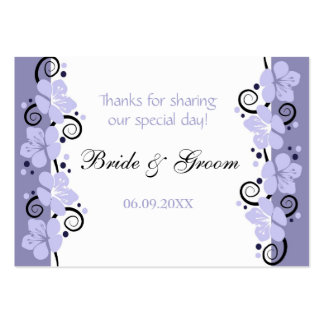 Lavender Flowers Wedding Favor Gift Tags Thank You Large Business Card
