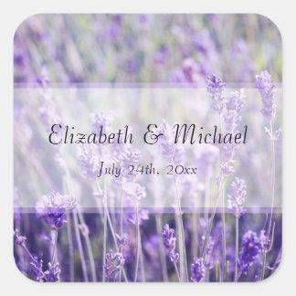 Lavender Flowers Wedding Favor Label