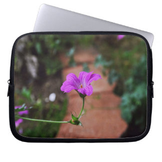Lavender Flowers with Inspirational quotes Laptop Sleeve
