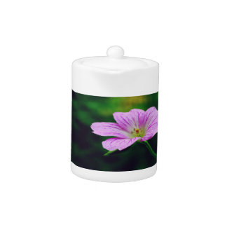 Lavender Flowers with Inspirational quotes Teapot