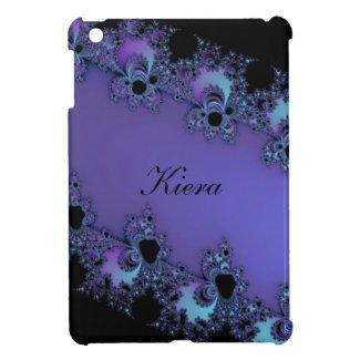 Lavender Fractal Personalized iPad Mini Case