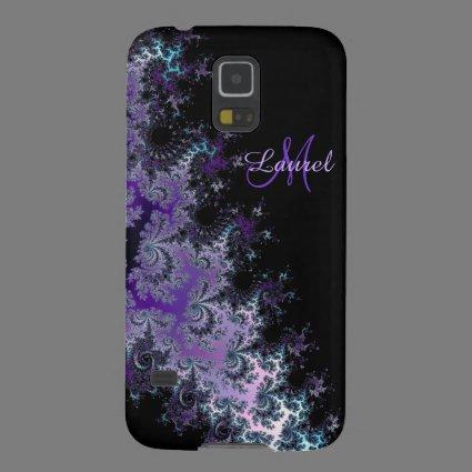 Lavender Fractal Sash Personalized Galaxy S5 Case