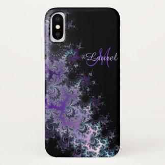 Lavender Fractal Sash Personalized iPhone X Case
