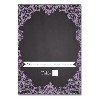 Lavender frame & chalkboard wedding escort card