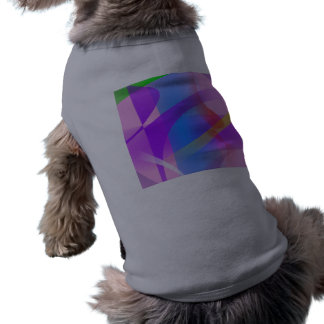 Lavender Free Forms Abstract Painting Doggie T Shirt