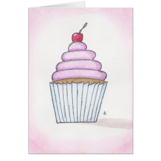 lavender frosted cupcake card