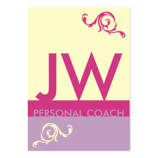 Lavender Fuchsia Minimalistic Monogram Appointment Large Business Cards (Pack Of 100)
