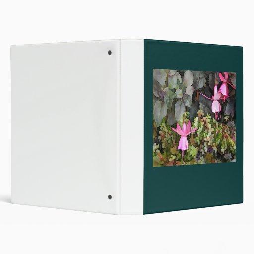 Lavender Fuchsias Vinyl Binder