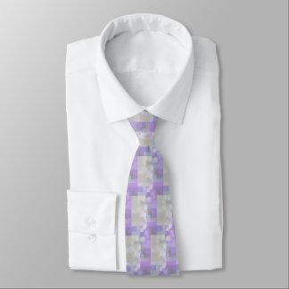 """Lavender"" Geometric Art  Tie"