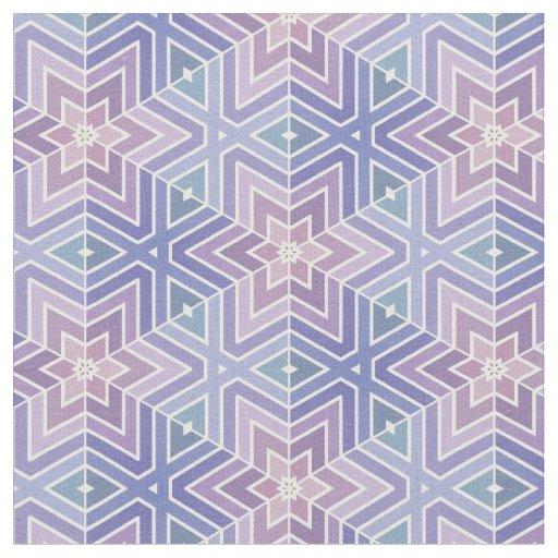 Lavender geometric star maze pattern fabric zazzle for Star design fabric