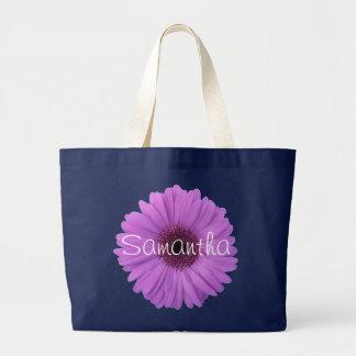 Lavender Gerbera Daisy Jumbo Tote Bag