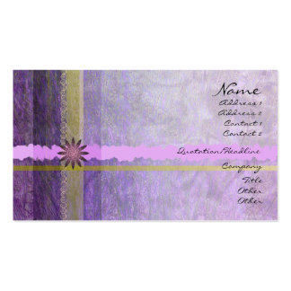 Lavender Giftwrap Profile Card Business Card Templates